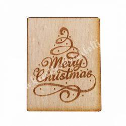 Fatábla, Merry Christmas, fával