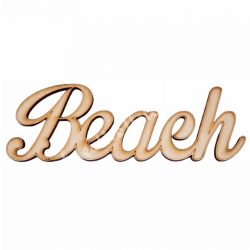 Fa felirat, Beach, 9x3,5cm
