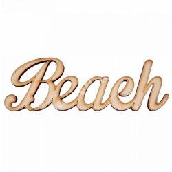 Fa felirat, Beach, 17x6,5cm