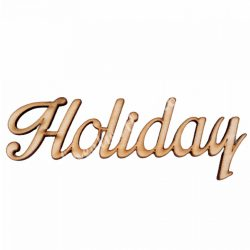 Fa felirat, Holiday, 17x6cm