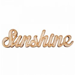 Fa felirat, Sunshine, 9x2,5cm
