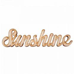 Fa felirat, Sunshine, 17x5,5cm