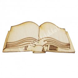 Fafigura nyitott könyv, 8x3,7 cm