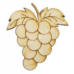 Fafigura, szőlő, 3x3,5 cm