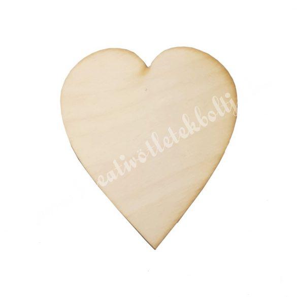 Szív alakú falap, 9,5x11 cm