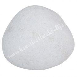 Fehér kavics, kb. 10x6 cm, 700-799 gr/db