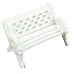 Mini fehér pad, 2x1,3 cm