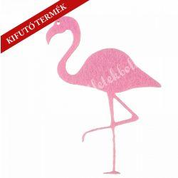Flamingó filcfigura