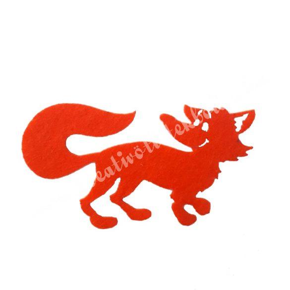 Filc róka, 8,5x4,5 cm