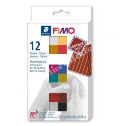 FIMO Effect Colour Pack Leather süthető gyurma készlet, 12x25 gr