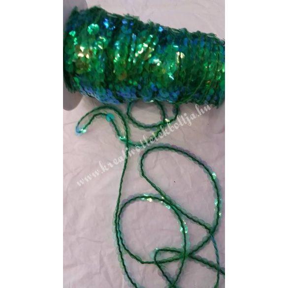 Flitter irizáló,átlátszó zöld