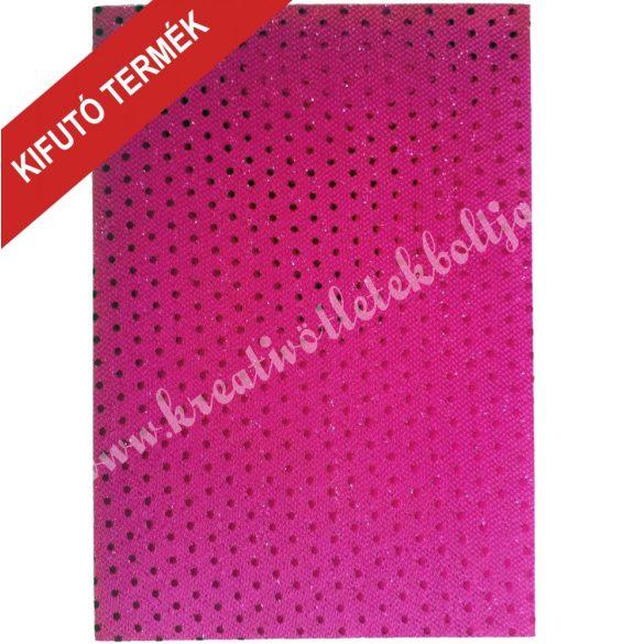 Flitteres dekorgumi, A4-es 2mm, pink