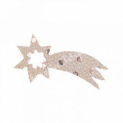 Flitteres dekorgumi hullócsillag, ezüst