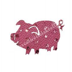 Flitteres dekorgumi malac, rózsaszín