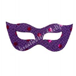 Flitteres dekorgumi maszk, lila