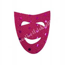 Flitteres dekorgumi maszk, pink