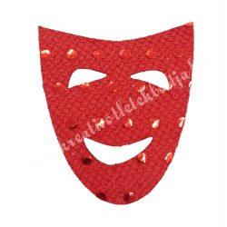Flitteres dekorgumi maszk, piros