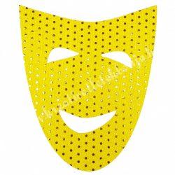 Flitteres dekorgumi, álarc, sárga, 20x24 cm