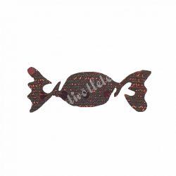 Flitteres dekorgumi szaloncukor, bronz