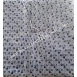 Flokkolt tüll, fekete-fehér, 140x100 cm