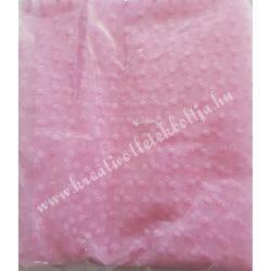 Flokkolt tüll, rózsaszín, 140x70 cm