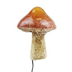 Betűzős gipsz gomba, barna, hegyes, 3,3x5 cm