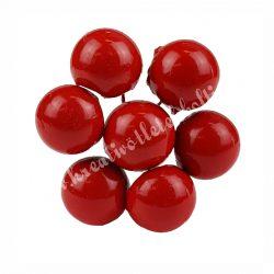 Betűzős gipsz piros bogyók, 7 db/csokor