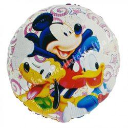 Fólia lufi, Mickey, Donald, Pluto, kb. 45 cm