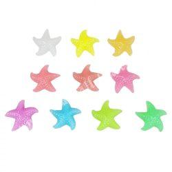 Foszforeszkáló tengeri csillag, kicsi, 10 színben