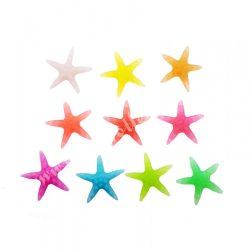 Foszforeszkáló tengeri csillag, nagy, 10 színben