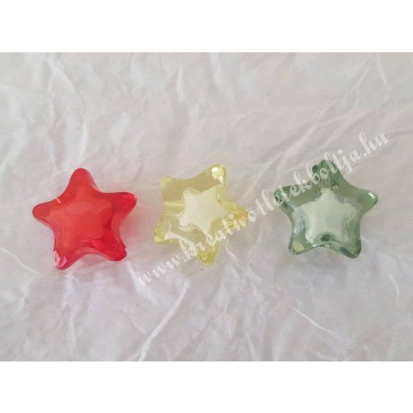 Fűzhető műanyag csillag