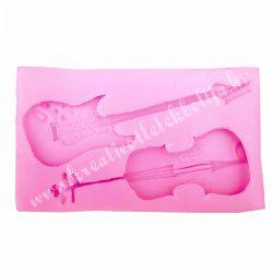 Szilikon mintázó, hegedű és gitár