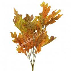 Őszi levél csokros, zöld-sárga-barna, kb. 32 cm