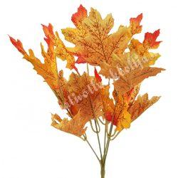 Őszi levél csokros, narancssárga-sárga, kb. 32 cm