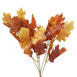 Őszi levél csokros, barna-sárga, kb. 32 cm