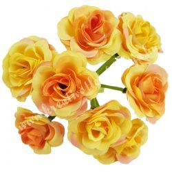 Rózsacsokor, sárga, 10x7 cm