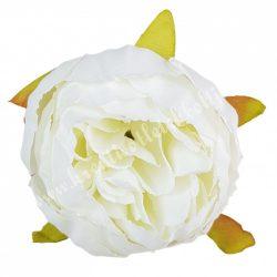 Dekor virágfej, fehér, 5 cm