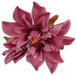 Dekor virágfej, sötét mályva, 7 cm