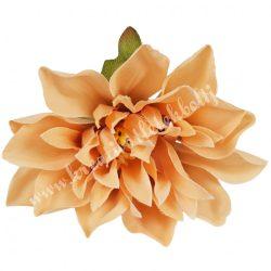 Dekor virágfej, sötét barack, 7 cm