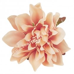 Dekor virágfej, lazac, 7 cm
