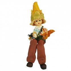 Lógó lábú kukoricagyerek mókussal, 8,5x19 cm