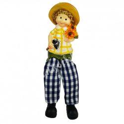 Lógó lábú napraforgó gyerek ásóval, 5x13 cm