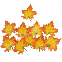 Selyem juharlevél csomag, napsárga-narancs, 9,5x11 cm