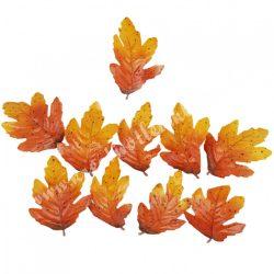 Selyem levél csomag, napsárga-narancs, 6,5x9 cm