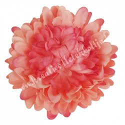 Dekor virágfej, cirmos rózsaszín, 7 cm