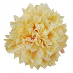 Dekor virágfej, barack, 5 cm