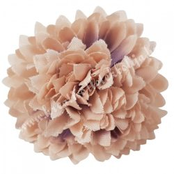 Dekor virágfej, púder, 5 cm