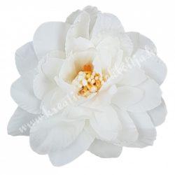 Dekor virágfej, fehér, 8 cm