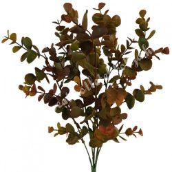 Eukaliptusz bokor, bordó-zöld, 19x37 cm