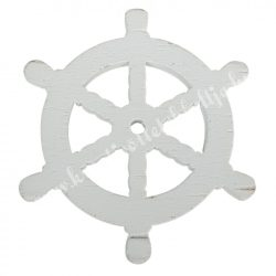 Fadekor, hajókormány, fehér, 5 cm